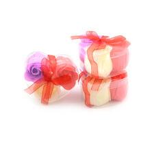 3Pcs/Box Colorful Scented Petal Bath Body Paper Soap Rose Flower Favor Decor