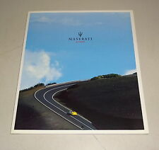 Prospectus / Brochure Maserati Spyder Cabriolet 4200 V8 Support 2001
