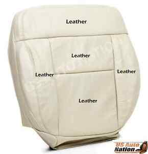 2004 Ford F150/ F 150/ Driver Bottom Seat Cover Light Parchment Tan/ Leather/ Hw