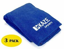 3 Pack KAZE SPORTS Microfiber Bowling Ball Cleaning Towel, 28 x 14 inch, seesaw