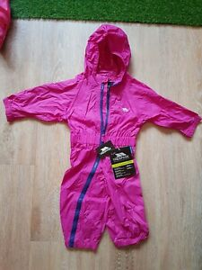 New with tags, Toddlers Puddle Suit All In One Tresspass 6-12 Months pink/purple