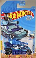 2018 Hot Wheels#136 HW Ride-Ons 2/5 TANKNATOR Blue w/Blk OH6 Sp 50th Anniversary