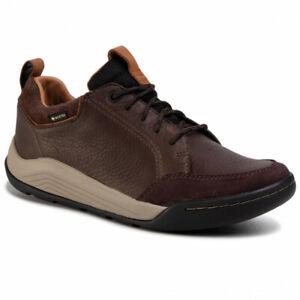 Clarks Ashcombe Bay GTX Waterproof Dark Brown Leather Active Shoes UK 6.5 - 11 G