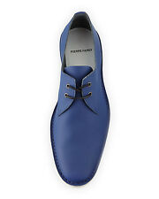 PIERRE HARDY BLUE CALF LEATHER DERBY LACE-UP SHOES SIZE US 11 EU 44 BNIB