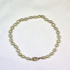 Knotted Pearl Bracelet Designer Pale Green
