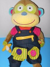 ALEX® Toys Little Hands Early Learning Learn To Dress Banana Eating Plush Monkey