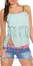 Clubwear Spaghetti Strap Blouses for Women