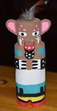 HOPI BEAR CARVING GRACE POOLEY ROUTE 66 KACHINA CARVING HOPI FREE SHIP