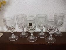 """6 Verres à vin  blanc """" LOUVRE  """"  cristal d'Arques i"""