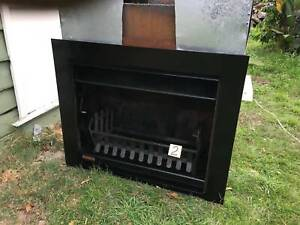 Jetmaster open firplace heater wood flue logpan grate