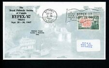 LOT 66234 CANADA COVER STAMP EVENTS PHILATELIC EXHIBITION BYPEX 1967