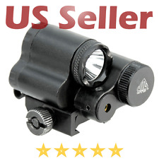 UTG Leapers Sub-compact LED Light and Aiming Adjustable Red Laser Picatinny Rail
