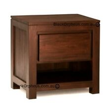 Timber Bedside Table with drawer, Mahogany Timber Bedside.