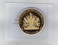 2014 TRISTAN DA CUNHA QUEENS 88TH BIRTHDAY SUPERSIZE GOLD PLATED COPPER £5.