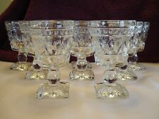 """Set of 8 Vintage Clear Glass Wine or Cordial Glasses, 4 1/2"""" x 2 3/4"""""""