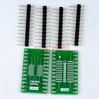 5pcs SOP/SSOP/TSSOP/SOIC 24 to DIP Adapter PCB Board Converter Double Sides E06
