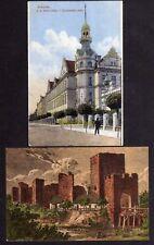 120126 2 AK Nymburk 1916 Burg Ruine Straße Schule 1918