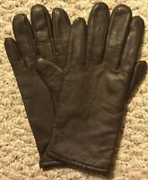 NEW! Vintage! CHADWICK'S Genuine Leather Ladies Sz M Brown Lined Gloves Driving