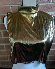 Vintage Disco Shiney Gold Dicky Turtleneck Made in USA