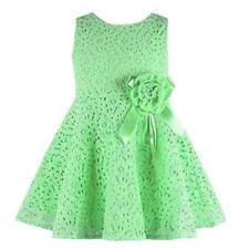 2016 Girls Kids Full Lace Floral  Dress Child Flower Party Sundress 4-7Y