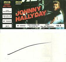 RARE / BILLET TICKET CONCERT - JOHNNY HALLYDAY A CAEN ( FRANCE ) NOVEMBRE 1990