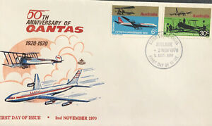 Australia * FDC Royal 1970 50th Anniversary Of Qantas