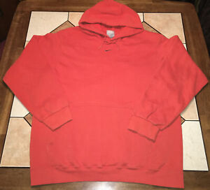 Vintage Nike Center Swoosh Grey Check Travis Scott Hoodie Orange Grey Tag XL
