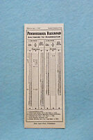 Pennsylvania Railroad Time Table , Washington to Baltimore, July 1, 1947
