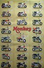 HONDA MONKEY MINI BIKE POSTER: 23 Models & Year Built, Motorcycle, Scooter, Z50