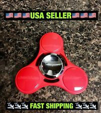 NEW Metal Candy Red EDC Fidget Hand Spinner High Quality 🇺🇸USA Seller