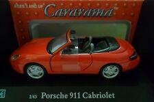 CARARAMA 1:43 AUTO DIE CAST PORSCHE 911 CABRIOLET ROSSO  ART 250