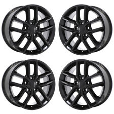 "18"" JEEP GRAND CHEROKEE BLACK WHEELS RIMS FACTORY OEM SET 4 9156"