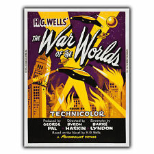 WAR OF THE WORLDS METAL SIGN WALL PLAQUE Film Movie Advert poster Cinema print