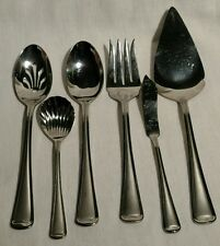 6 PIECE SERVING SET By GORHAM - MONET FROSTED - 18/8 STAINLESS