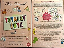 Too Faced Totally Cute Eyeshadow Palette with Stickers! New/Boxed 100% Authentic