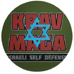 "Israeli Krav Maga 3.5"" Badge Button Pin IDF Martial Arts MMA UFC - Brand New!"
