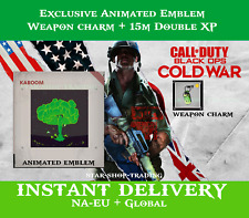 Call of Duty Black Ops Cold War Exclusive Emblem + Charm + 15M Double XP | 2XP