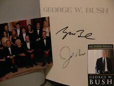 George W. Bush + Jeb Bush USA SIGNED SIGNED AUTOGRAPH SIGNATURE AUTOGRAPH