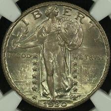 Standing Liberty Silver Quarter. 1930 P. NGC MS 65 FH Toning.