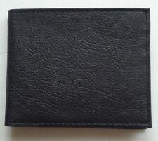 Amity Gunsmoke ID Passcase Genuine Leather Billfold Wallet Black