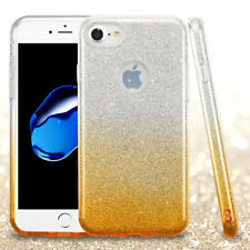 COVER Custodia Glitter GRADIENTE Morbida Silicone per APPLE IPHONE 7 Gialla