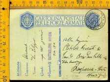 Regno WW2 franchigia posta militare 17 x Porto Maurizio Imperia lj 732