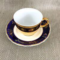 Antique Teacup & Saucer Spode Royal Worcester Gold Reflective Mirror Luster