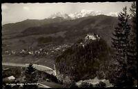 Werfen Österreich Salzburg Postkarte 1964 Blick auf Werfen und Burg Hochkönig