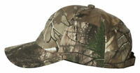 Outdoor Cap 6 Panel Unstructured Low Profile Washed Camo Cap. CGW115