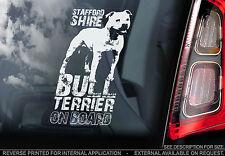Staffie - Dog Car Sticker - Staffordshire Bull Terrier on Board Sign Gift - TYP2