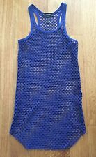 Isabel Marant Royal Blue Mesh Racer Back tank top Size Small