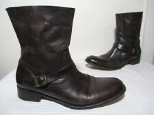 $650 N.D.C BROWN LEATHER MADE BY HAND CARA BOOTS MADE IN PORTUGAL SZ 39½ US 7½
