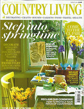 COUNTRY LIVING, MARCH, 2014   BRITISH EDITION  ( STEP INTO SPRINGTIME )