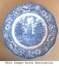 "Vintage SOUVENIR Plate,INDEPENDENCE HALL,PHILA.C.1980,Staffordshire,England,10""D"
